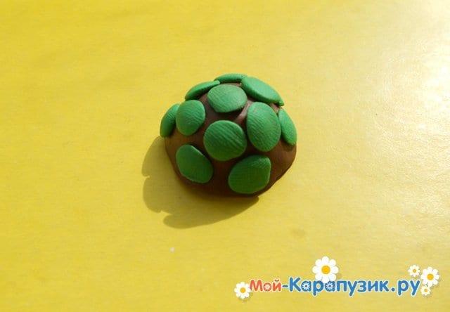 Лепка черепахи из пластилина - фото 8