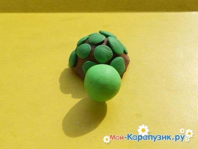 Лепка черепахи из пластилина - фото 9