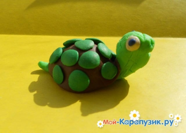 Лепка черепахи из пластилина - фото 10