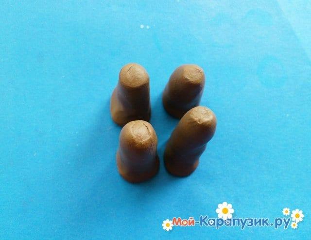Лепка мамонта из пластилина - фото 9