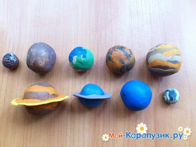 Лепка планет из пластилина - фото 15