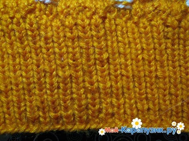 Вязание шапки с помпоном спицами - фото 2