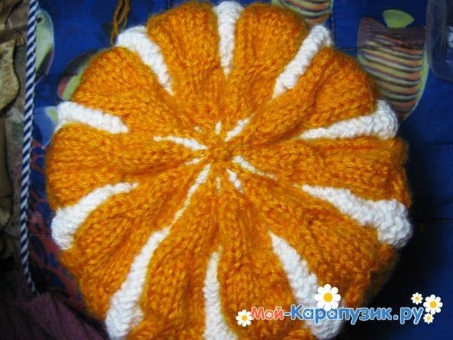 Вязание шапки с помпоном спицами - фото 25