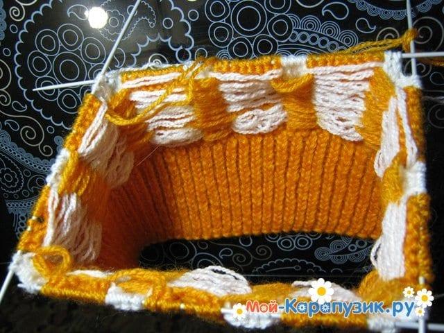 Вязание шапки с помпоном спицами - фото 3