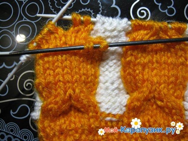 Вязание шапки с помпоном спицами - фото 5