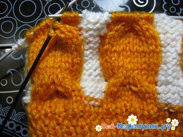 Вязание шапки с помпоном спицами - фото 6