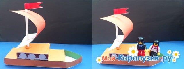 Изготовление кораблика из бумаги - фото 3
