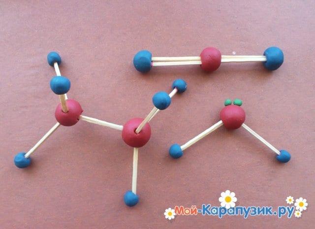 Лепка молекул из пластилина - фото 11