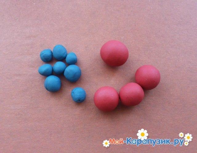 Лепка молекул из пластилина - фото 2