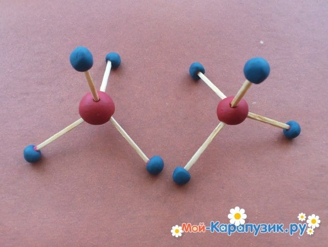 Лепка молекул из пластилина - фото 5