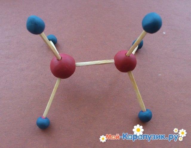 Лепка молекул из пластилина - фото 6