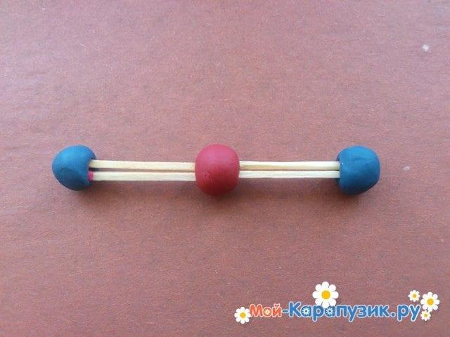 Лепка молекул из пластилина - фото 9