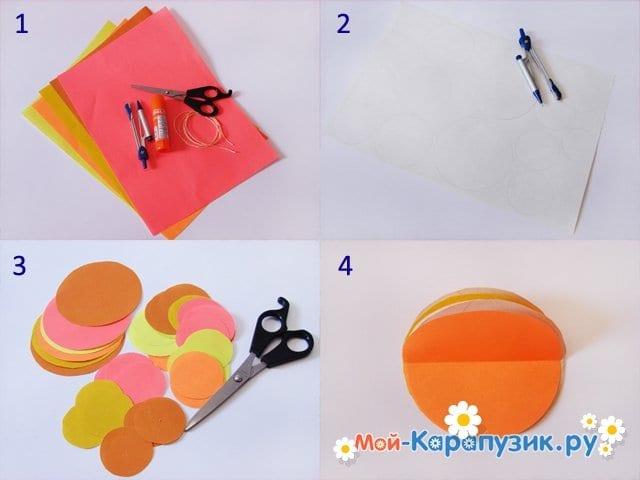 Изготовление новогодней гирлянды из бумаги - фото 1
