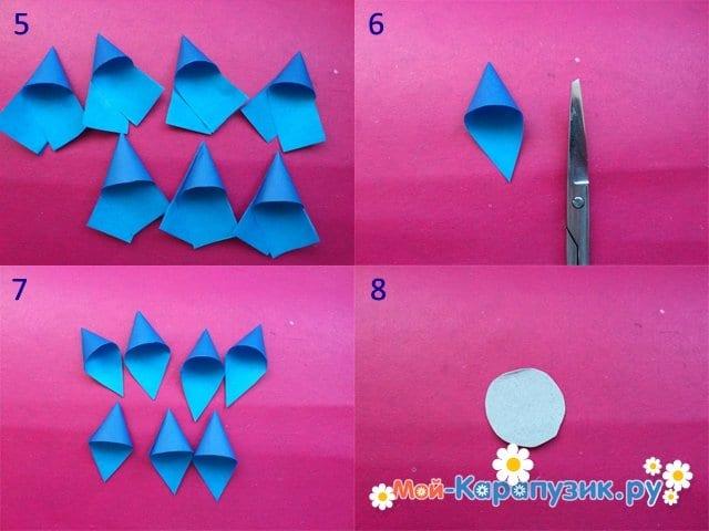 Изготовление новогодней снежинки из бумаги - фото 2