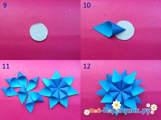 Изготовление новогодней снежинки из бумаги - фото 3