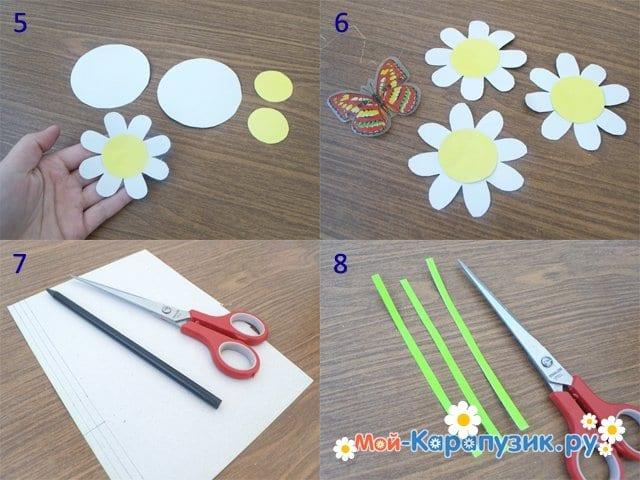 Изготовление бумажной открытки для мамы - фото 2