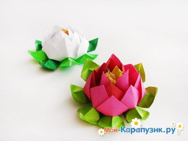 Лотос цветок из бумаги своими руками 446