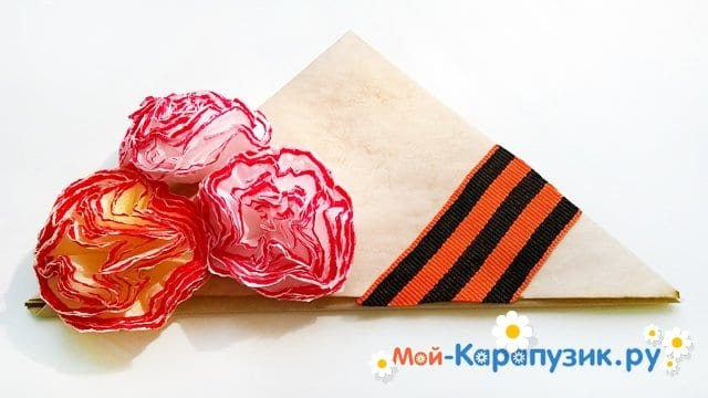 Изготовление открытки-пилотки на 9 Мая - фото 23