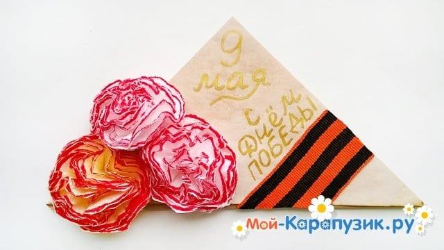 Изготовление открытки-пилотки на 9 Мая - фото 24
