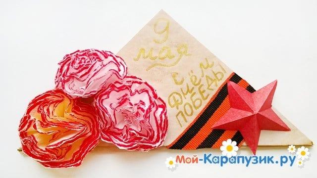 Изготовление открытки-пилотки на 9 Мая - фото 26
