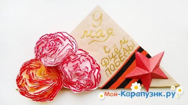 Изготовление открытки-пилотки на 9 Мая - фото 27