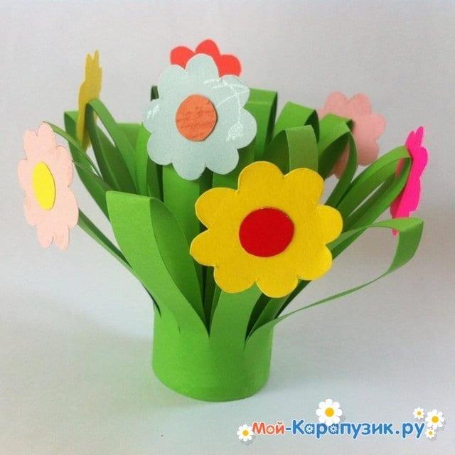 Поделки цветов на 8 Марта в детский сад - фото 12