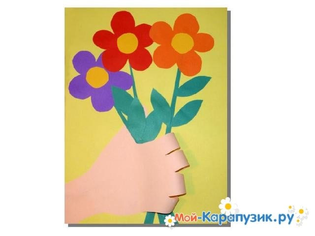 Поделки цветов на 8 Марта в детский сад - фото 15