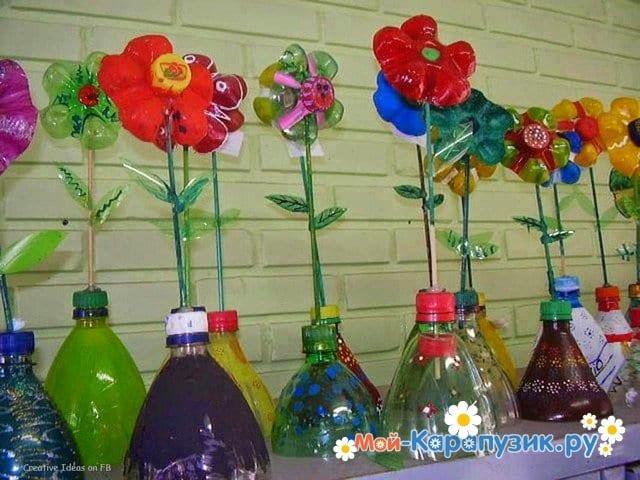Поделки цветов на 8 Марта в детский сад - фото 16