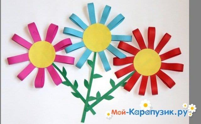 Поделки цветов на 8 Марта в детский сад - фото 17