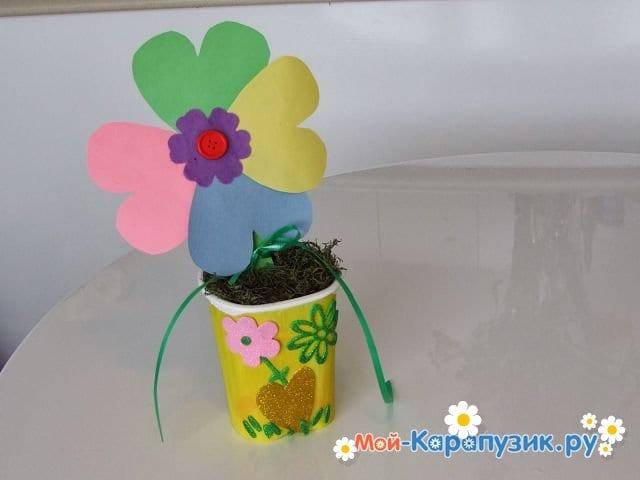 Поделки цветов на 8 Марта в детский сад - фото 19