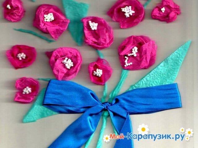 Поделки цветов на 8 Марта в детский сад - фото 2