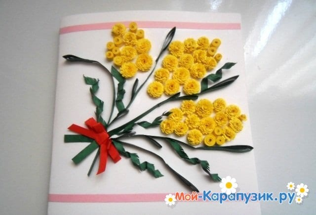 Поделки цветов на 8 Марта в детский сад - фото 21