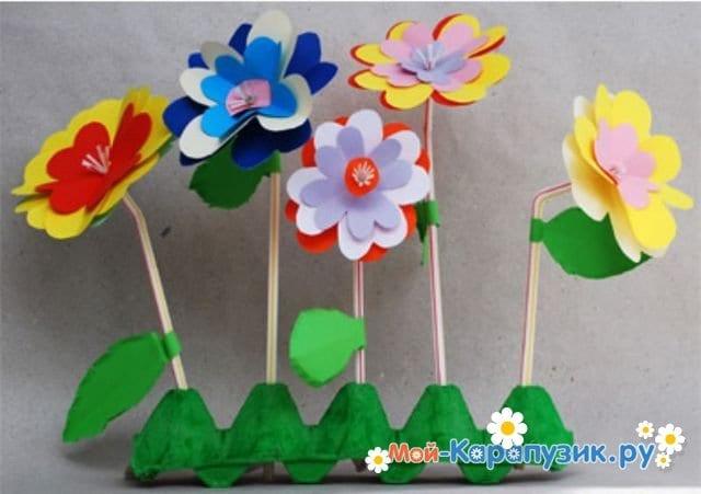 Поделки цветов на 8 Марта в детский сад - фото 5