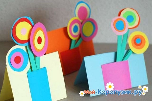 Поделки цветов на 8 Марта в детский сад - фото 8