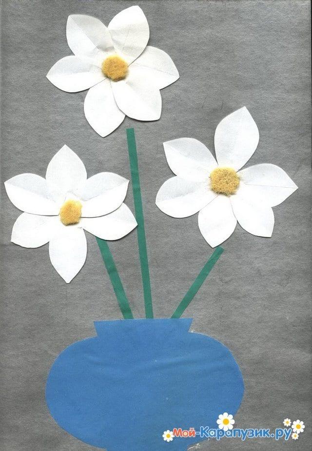 Поделки цветов на 8 Марта в детский сад - фото 9