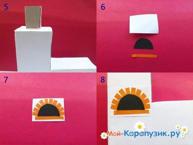 Изготовление русской печи из бумаги - фото 2