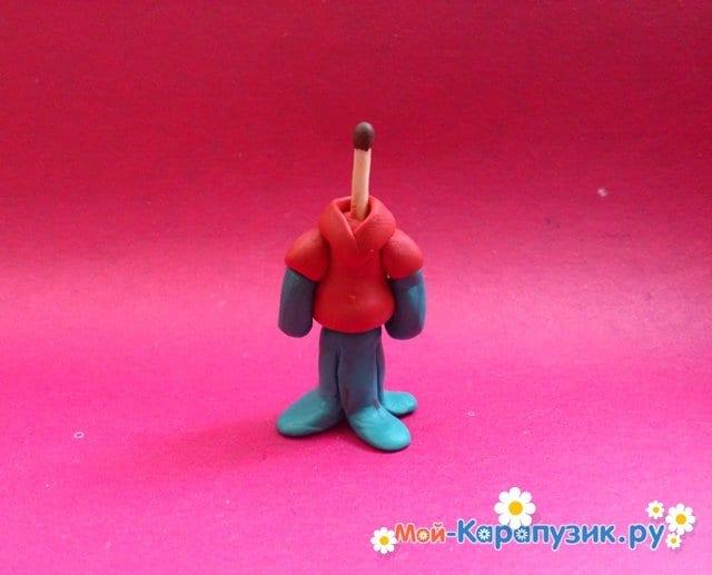Лепка Сквидварда из пластилина - фото 11