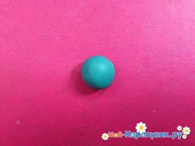 Лепка Сквидварда из пластилина - фото 2