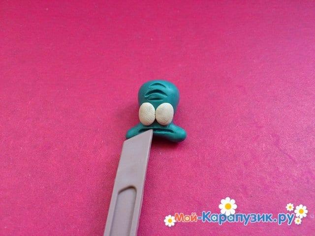 Лепка Сквидварда из пластилина - фото 5
