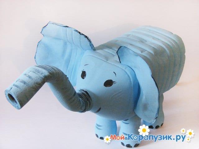 Как сделать слоника из бутылки 510