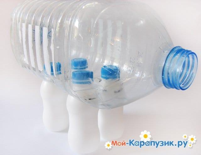 Как сделать слоника из бутылки 495