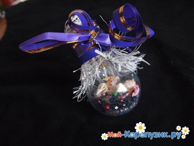 Изготовление ёлочной игрушки из перегоревшей лампочки - фото 10