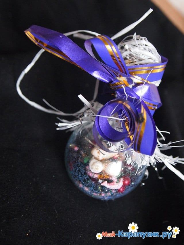 Изготовление ёлочной игрушки из перегоревшей лампочки - фото 11