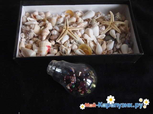 Изготовление ёлочной игрушки из перегоревшей лампочки - фото 4