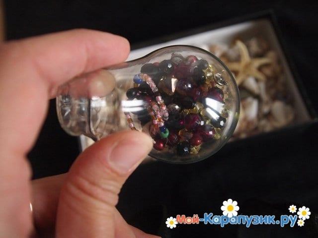 Изготовление ёлочной игрушки из перегоревшей лампочки - фото 5