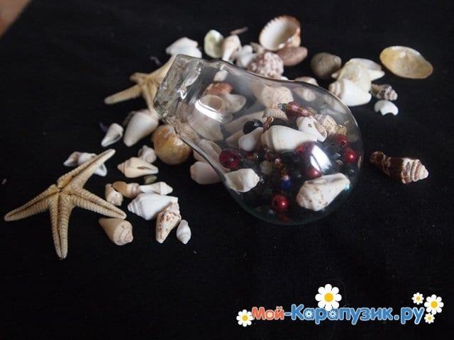 Изготовление ёлочной игрушки из перегоревшей лампочки - фото 6
