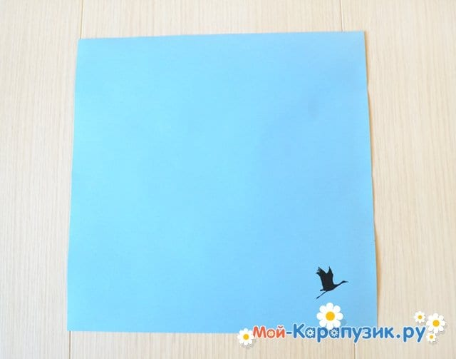 Поделка журавля из бумаги - фото 1