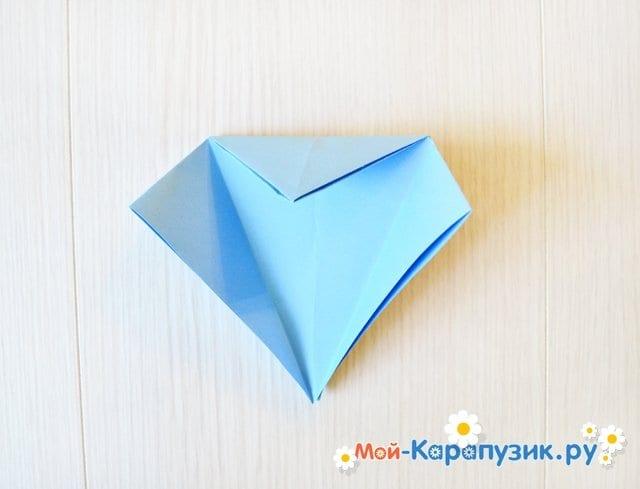 Поделка журавля из бумаги - фото 12