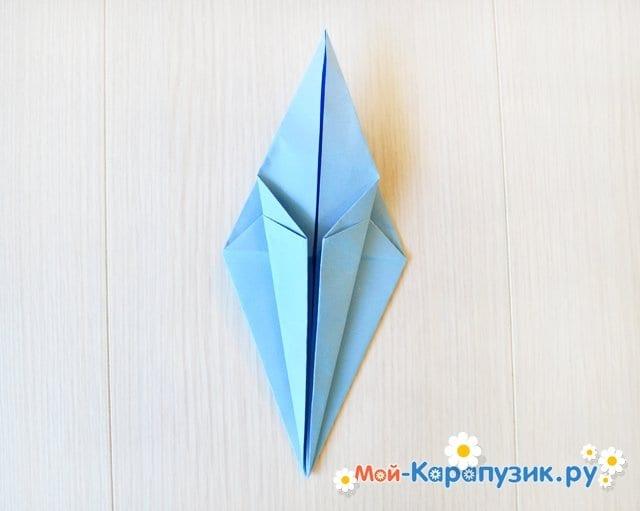 Поделка журавля из бумаги - фото 15