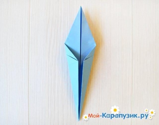 Поделка журавля из бумаги - фото 16